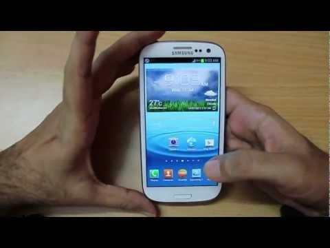 Samsung Galaxy S3 hands on Overview