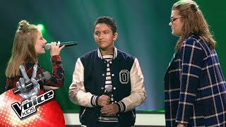 Eva Ricardo Charlotte 39 Praying 39 The Battles The Voice Kids Vtm