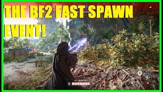 Star Wars Battlefront 2 - The Fast Respawn event! GREAT for killstreaks! (Yoda, Palpatine)