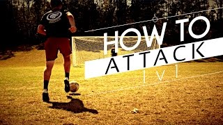 How To Attack 1v1 In Football/Soccer   How To Beat A Goalkeeper 1v1