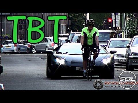 Cyclist Sabotages Lamborghini Aventador: #TBT