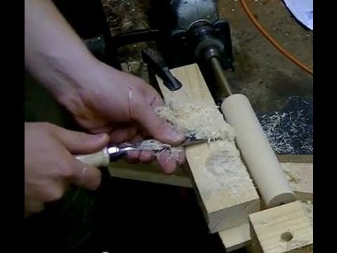 Makeshift Lathe (handle for the homemade extrusion table saw fence)