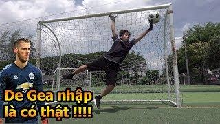 Thử Thách Bóng Đá Duy Trung trổ tài làm thủ môn bay người cứu thua như David De Gea Việt Nam