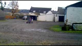 Jamie McFarlane in off-road buggy