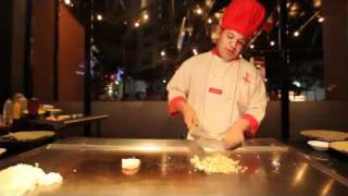 Chef Eduardo at Benihana.
