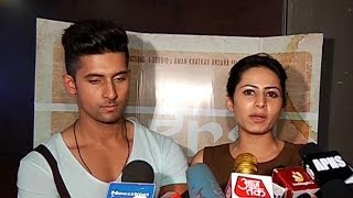 Ravi Dubey & Sargun Mehta At The Screening Of 'Angrej'