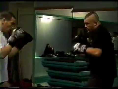 Chuck Liddell sparring with Gilbert Yvel and Martin De Jong Image 1