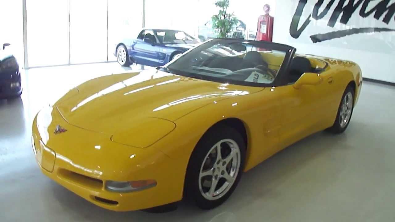 2002 millenium yellow corvette convertible pre shipping video corvette world dallas dallas. Black Bedroom Furniture Sets. Home Design Ideas