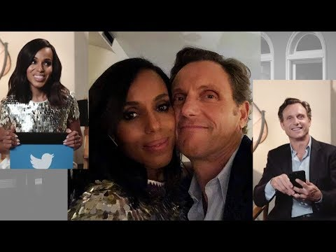"""Sweet """"Thank You"""" from Kerry & Tony to fans of Scandal... ♥️"""