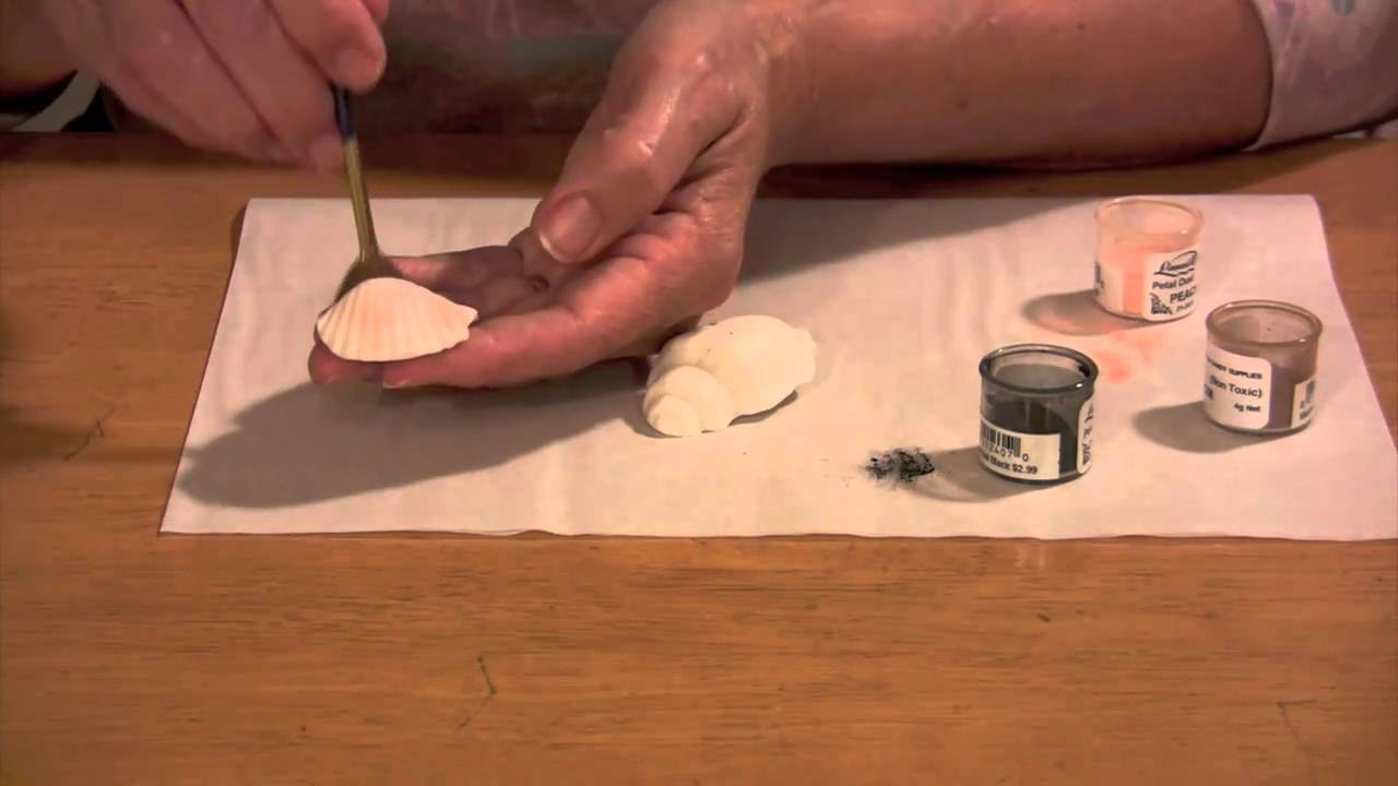 How to make gumpaste seashells part 1 youtube - Shell decorations how to make ...