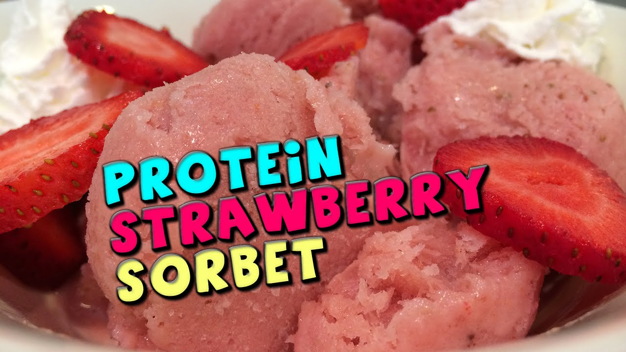 Strawberry Protein Powder Protein Strawberry Sorbet