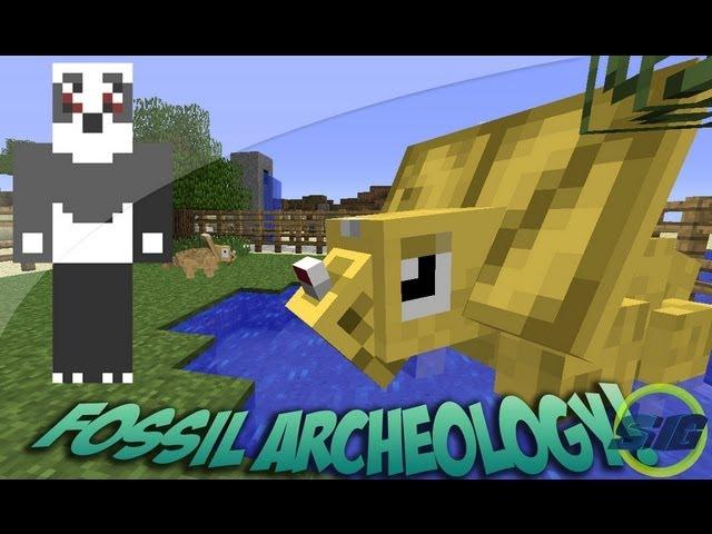 Dinosaurios En Minecraft (Fossil Archeology mod) - Minecraft MOD
