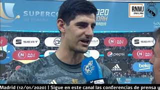 Declaraciones Thibaut COURTOIS CAMPEON SUPERCOPA ESPAÑA post Real Madrid 0-0 Atleti (12/01/2020)