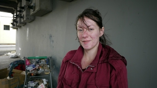 Sabrina is 23 and living homeless under a bridge in Seattle.