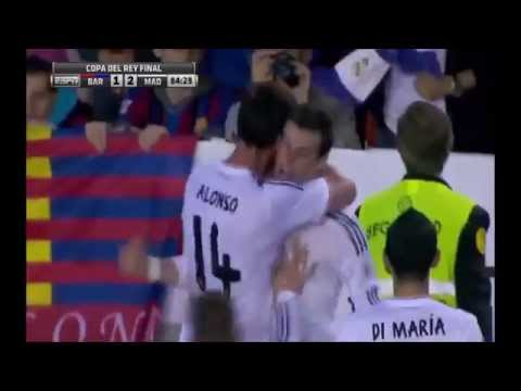 Gareth Bale the fastest goal Real Madrid 2 vs Barcelona 1 Copa Del Rey Final 2014