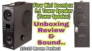 Flow Mini Boombox 5.1 Tower Speaker[Unboxing & Review]