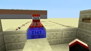Minecraft Tutoriais-Canhão de TNT Classico e Simples