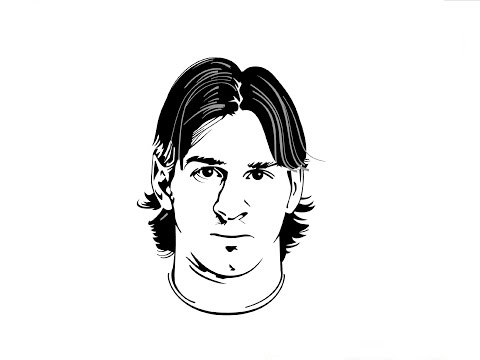Speed drawing: Lionel Messi / Быстрое рисование. Лионель Месси