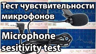 4 microphones sensitivity level test (2 of 4 from Aliexpress)