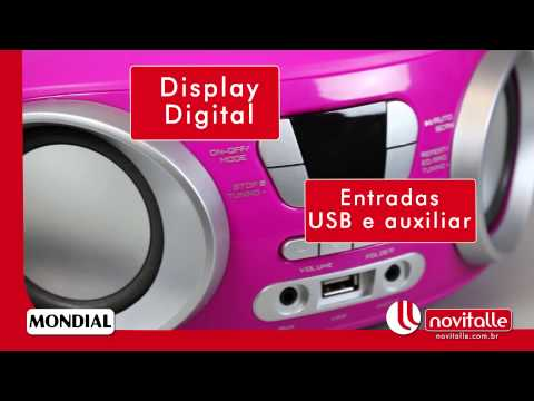 Rádio Portátil Mondial Up BX-15 - Novitalle