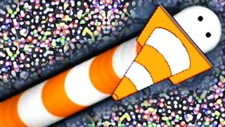 NEW HACKED SKIN?! - Slither.io Mod / Slither.io Hack New Update Gameplay! - CONE SLITHER.io SKIN!