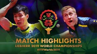 Lee Sangsu vs Mattias Falck | 2019 World Championships Highlights (R16)