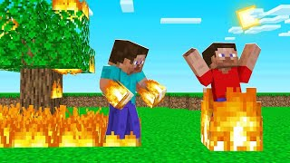 Minecraft, BUT Your HANDS Are ALWAYS On FIRE! (dangerous)