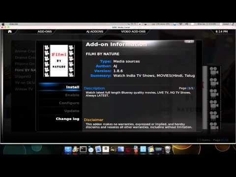 How to watch Indian movies for free using XBMC and AJ Addon