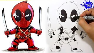 How to Draw Deadpool Step by Step / Como Dibujar a Deadpool paso a paso / easy art
