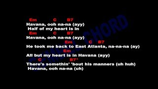 Download Lagu Camila Cabello - Havana ft. Young Thug - Guitar Chords & Lyrics Gratis STAFABAND