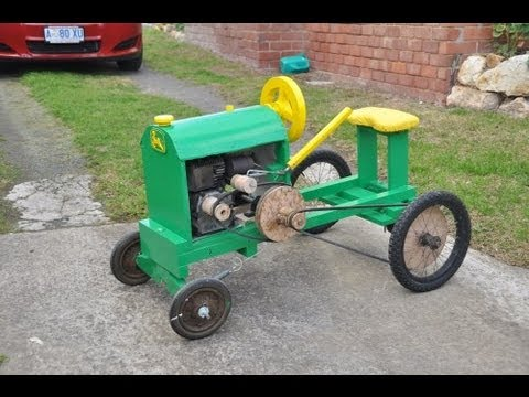 Homemade Wooden Tractor