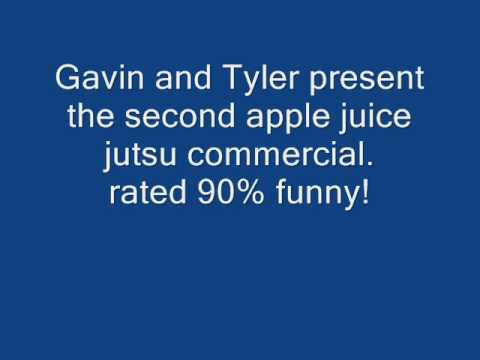 the apple juice jutsu commercial. the apple juice jutsu commercial