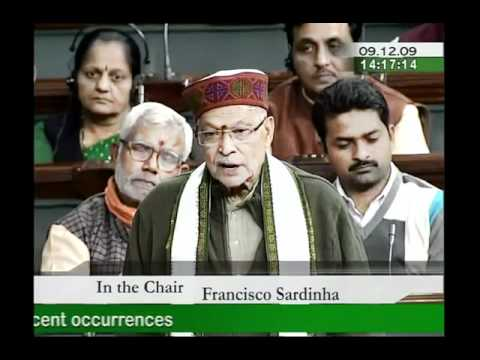 On Indo China relations with Special reference : Sh. Murli Manohar Joshi: 09.12.2009