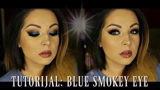 TUTORIJAL: Blue smokey eye (Predlog sminke za maturu)