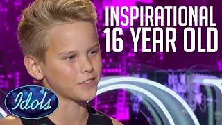 INSPIRATIONAL TEENAGER AUDITION On American Idol | Idols Global