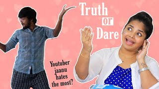Couple Truth or dare challenge in Tamil | Ram's sexy dance 🤪 | Pranked fan page| Ram with Jaanu