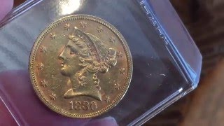 Do you love pre-33 gold? I do that's why I added this 1880 $5 half eagle this week.