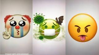 Corona virus emojis art and design all emoji art #HappyHoli2020