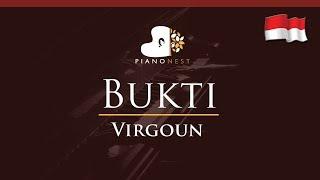 Virgoun - Bukti (Indonesian Song) - HIGHER Key (Piano Karaoke / Sing Along)