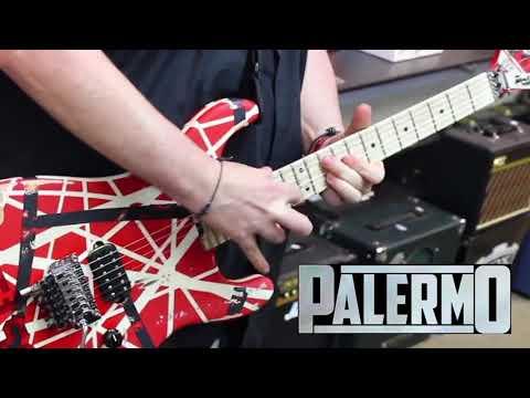 EVH  Van Halen 5150 Striped Guitar and EL34 Amp Demo Mike Palermo Mikes Music