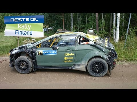 CRASH - Rally Finland 2014 - L. Bertelli / M. Dotta - Ford Fiesta R5