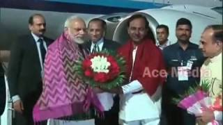 Modi Arrival at Shamshabad Airport