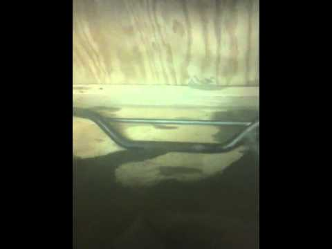 Sandblasting cabinet test run. Eastwood 200 lb pressure pot blaster