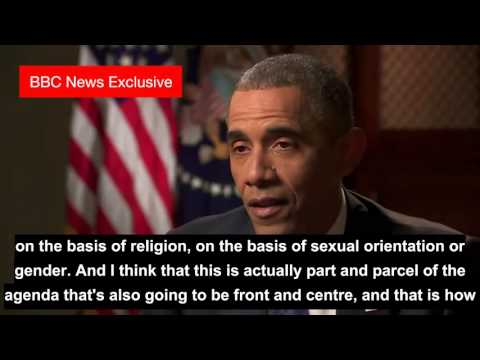 Learn english through interviews   President Barack Obama Interview   BBC News with subtitles