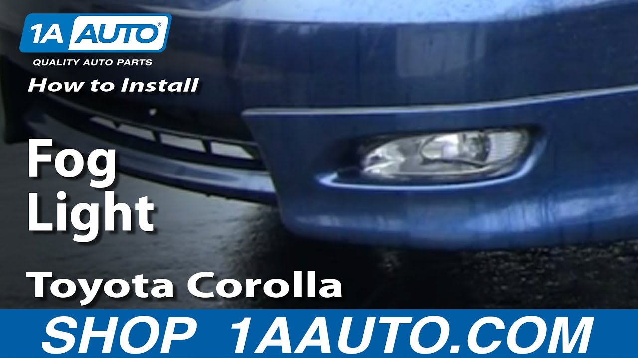 how to install replace a fog light toyota corolla 03