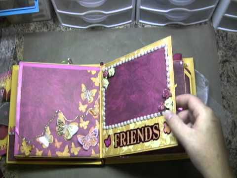 Butterfly Mini Scrapbook Sold YouTube