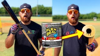 I Filled A Baseball Bat With Flex Seal (CORKED BAT)