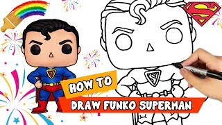 Superman Drawing | Learn To Draw Funko Painting | Step By Step Drawing For Kids