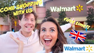 BRITISH COUPLE SHOP IN WALMART FOR THE FIRST TIME!! (2 hour shopping spree 🙈)