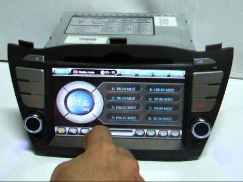 Navigation with GPS and TV tuner for Hyundai IX 35 TTi-8947.wmv